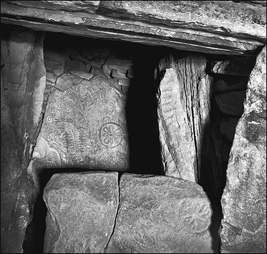 The chamber in Cairn T Loughcrew