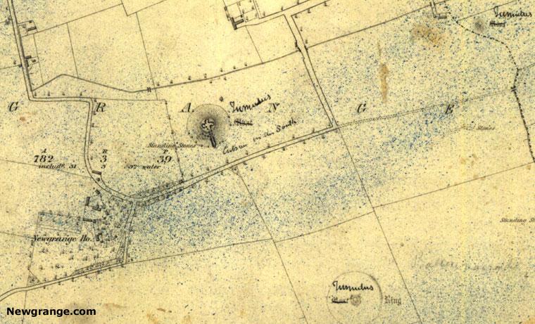 Map Of Ireland Newgrange.Old Maps Showing Newgrange Knowth