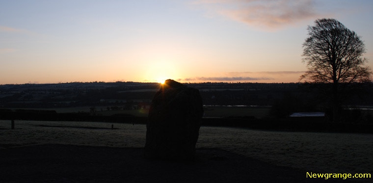Newgrange - Sunrise viewed from the entrance